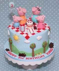 Peppa Pig cake by cake avenue Tortas Peppa Pig, Bolo Da Peppa Pig, Peppa Pig Birthday Cake, 2nd Birthday, Fondant Cakes, Cupcake Cakes, Pig Cakes, Gateaux Cake, Creative Cakes