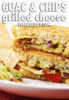 Guac and Chips Grilled Cheese Sandwich | Combining guacamole with grilled cheese will make you feel like you're breaking the rules in a really delicious sort of way.