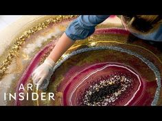 Geode Wall Art Sparkles With Glitter And Real Crystals - YouTube