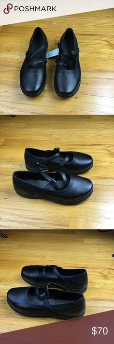 fbe8a48e31b3 APEX Petals A350W Black Women Therapeutic Diabetic Apex Janice Petals Mary  Janes New with Tag Size