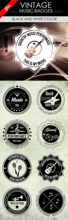 Vintage Music Badges