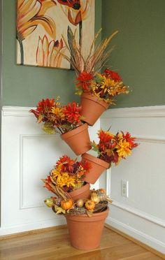 Another lovely Fall arrangement for Flip Flop Flowerpot