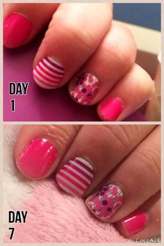 Jamberry nails. Day 1 and day 7. Nurse hands. http://itsfransjam.jamberrynails.net