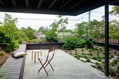 The clients approached us to make alterations to their high-set home on a steep site in Herston. They required only a small amount of additional… Teneriffe, Australian Architecture, Garden Edging, Back Doors, Cottage, Exterior, Patio, Landscape, Architects