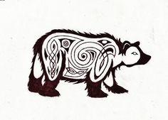 Celtic Bear Tattoo Sample