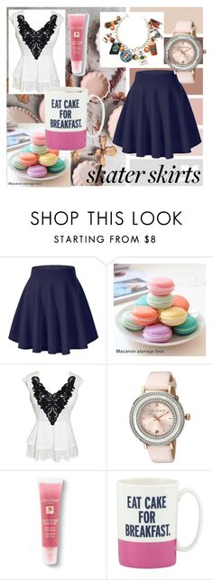 """""""Only Sugar, No Spice"""" by supribalu on Polyvore featuring Ted Baker, Lancôme, Kate Spade, women's clothing, women, female, woman, misses, juniors and skaterSkirts"""