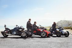 The 2015 Can-Am Spyder F3-S models with accessories.