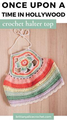 Crochet Halter Tops, Crochet Shirt, Crochet Jacket, Crochet Crop Top, Love Crochet, Vintage Crochet, Knit Crochet, Crochet Bikini, Crochet Designs