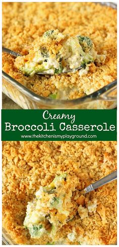 Creamy Broccoli Casserole ~ A family-favorite! With its cheesy broccoli goodness. Creamy Broccoli Casserole ~ A family-favorite! With its cheesy broccoli goodness and buttered cracker crumb topping, Easter Dinner Recipes, Healthy Dinner Recipes, Holiday Recipes, Cooking Recipes, Easter Dinner Ideas, Easter Appetizers, Sides For Easter Dinner, Sides For Turkey Dinner, Easy Easter Recipes