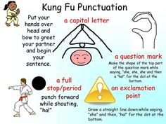 Kung Fu Punctuation - I am still unsure when/where to use the capital letter. From what I understand, it is to be used at the beginning of a lesson or tournament (2 contestants, and umpire)...Do we need to use it when reading out a sentence??