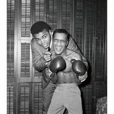 "Muhammad Ali and Sammy Davis Jr. if you want to read a facinating book read ""Yes, I Can"" Sammy Davis Jr's autobiography. He was an amazing man, as is Mr. Dean Martin, James Dean, Muhammad Ali, Paul Mccartney, Bon Sport, Boxe Mma, Breakfast At Tiffany's, The Jackson Five, Sammy Davis Jr"