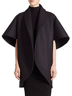 MILLY Bonded Neoprene Sculptural Coat