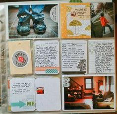 half photo + half patterned paper with tag...lisa truesdell