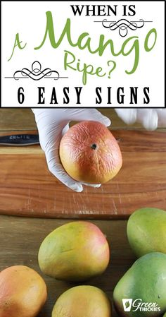 When is a mango is ripe? The biggest mistake most people make with mangoes, is eating them when they are unripe. Mango Recipes, Fruit Recipes, Yummy Recipes, Yummy Food, Fruit Drinks, Fruit Smoothies, How To Eat Mango, Mango Looks
