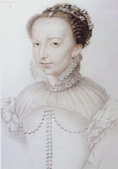 Catherine de Medicis c. 1540. This is a reproduction of a lost drawing probably executed by Jean or Francois Clouet. Paris, Musee des Arts Decoratifs.