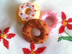 Rosquinhas e Donnuts de feltro | Cor de Flor | 2A27B2 - Elo7