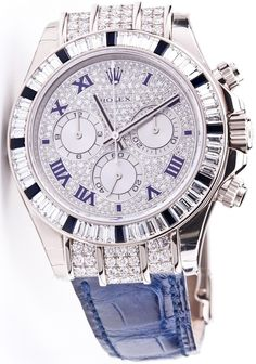 Rolex Cosmograph Daytona 116599-12SA - White Gold - Diamond Bezel 12 sapphires - Pave Diamonds Dial