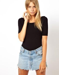ASOS | ASOS Body with Scoop Neck and Half Sleeve at ASOS