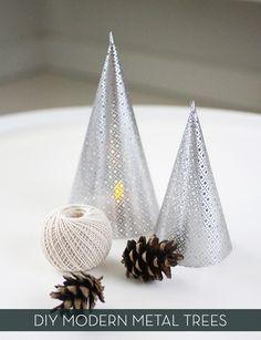 credit: Jennifer Hagler [http://www.amerrymishapblog.com/2012/11/diy-metal-cone-lantern.html]