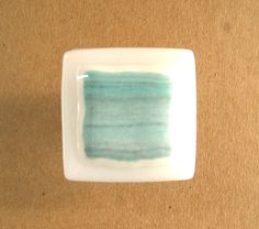 Seafoam Aqua Green Glass Knobs Cabinet by UneekGlassFusions. $24.00, via Etsy.