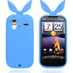Bunny (Blå) HTC Amaze 4G Deksel Hot Pink, Bunny, Cover, Amazing, Orange, Silicone Rubber, Pink, Hare, Rabbits