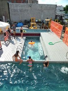 Dumpsters Turned Swimming Pools!