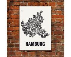 Hamburg Typografie Siebdruck
