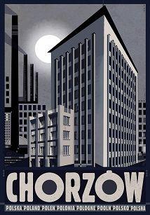 Chorzów, plakat z serii Polska,Ryszard Kaja Polish Posters, Constructivism, Typography Poster, Pretty Art, Vintage Posters, Graphic Design, Gallery, Illustration, Prints