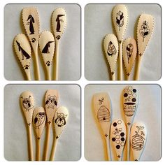 I was in the mood for a little whimsy today. #woodburnedspoons #pyrography #dogs…