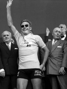 Dutchman Jan Janssen smiles as he waves to the crowd after winning the Tour de France, 21 July 1968 in Paris. Janssen became the first Dutchman to win the Tour after coming back from a 16-second deficit to win the second leg of the last stage, an individual time trial between Melun and Paris. Van Springel finished second overall, 54 seconds behind.