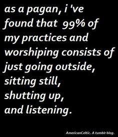 As a Pagan....