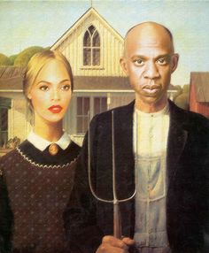 10 Famous Paintings Improved By Beyoncé - American Gothic