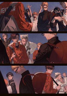 KuroTsuki - by Shigurefusawa Haikyuu Tsukishima, Haikyuu Fanart, Haikyuu Ships, Haikyuu Anime, Bokuto Koutarou, Kuroo Tetsurou, Bokuaka, Kuroken, Oikawa