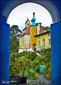 Portmeirion, in North Wales, Great Britain