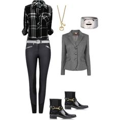 A fashion look from March 2015 featuring Rails tops, Burberry boots and Gucci necklaces. Browse and shop related looks.