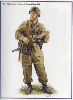 LUFTWAFFE - 3. Fallshirmjaeger Regiment, Holland 1940