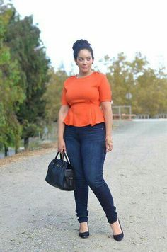 Curvy Girl Fashion: 40 Plus Size Outfits Curvy Girl Fashion, Look Fashion, Plus Size Fashion, Womens Fashion, Petite Fashion, Fall Fashion, Feminine Fashion, Fashion Outfits, Fashion 2018