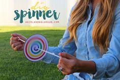 diy spinner--great kids craft!