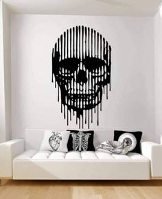 Norse Helmet Inspired Fantasy Gaming Design Home Wall Art Decal Vinyl Sticker