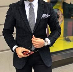 Beautiful black suit which has been perfectly tailored ! What do you think ? — #suits #menswear