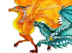Hey, no, wait for me! by TheLittleWaterDragon on DeviantArt Wings Of Fire Dragons, Got Dragons, Fantasy Dragon, Dragon Art, Fantasy Creatures, Mythical Creatures, Fire Fans, Pokemon, Character Design