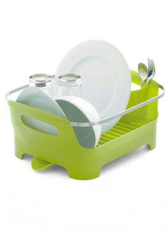 Chore I Can Dish Rack in Green, #ModCloth How perfectly does this fit our planned kitchen colour scheme? I love.