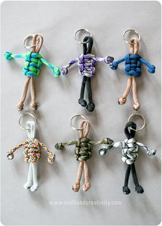 DIY Easy Paracord Buddy Keychain or Charm Tutorial from Craft...