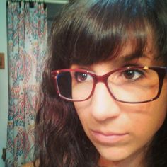 Bangs with glassrs