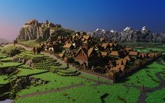 best minecraft creations | More Lord of The Rings Goodness! Edoras in Rohan! Love this.