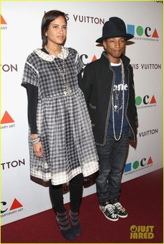 Pharrell Williams & Wife Helen Lasichanh