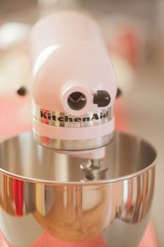 Pink Kitchen Aid Stand Mixer---- I don't really mix things..but I'm sure with this I would start!