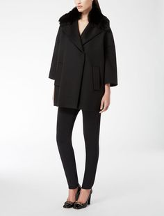 Max Mara ELOGIO black: Wool coat. Find your outfit on the Official Max Mara Website and discover all that is new in ready-to-wear.