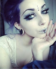 Gauges makeup goth cute                                                       …