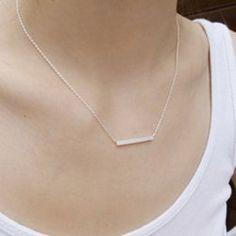 Chic Women's Number Shape Pendant Necklace